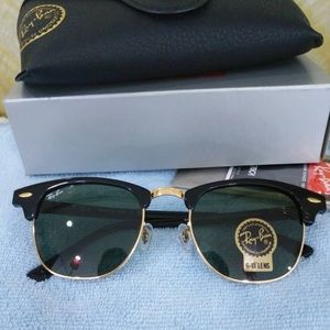 Ray ban clubmaster 3016 dark green sunglasses